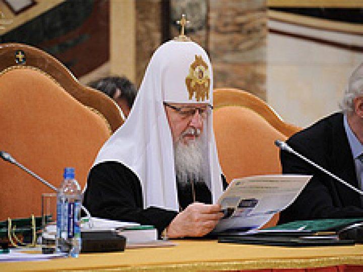 Обществу необходимо духовное единство, убежден Патриарх Кирилл