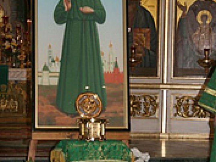 Честные мощи святой Матроны Московской покинули второй кафедральный храм Кузбасской митрополии