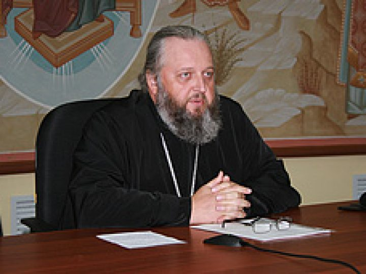 Митрополит Аристарх прочитал лекцию слушателям богословских курсов из городов Кузбасса