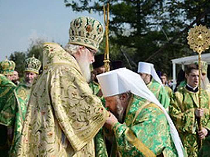 Святейший Патриарх Кирилл возвел епископа Аристарха в сан митрополита
