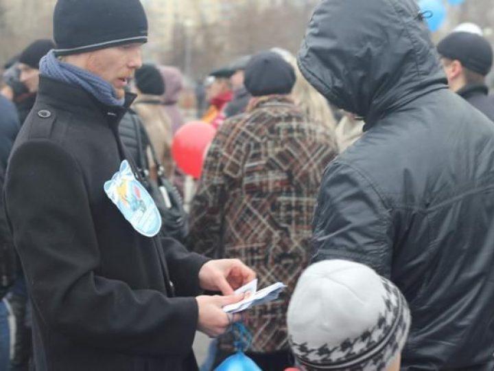 Православная молодежь Новокузнецка провела просветительскую акцию для горожан