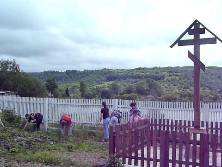 Участники православного молодёжного клуба из Новокузнецка провели палаточный лагерь в близлежащем селе