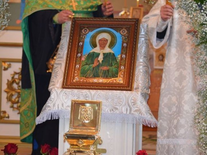 В Мариинскую епархию принесены мощи блаженной Матроны Московской