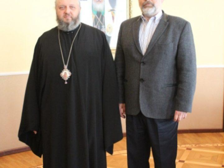 Митрополит Аристарх провел встречу с профессором медицины из Сербии
