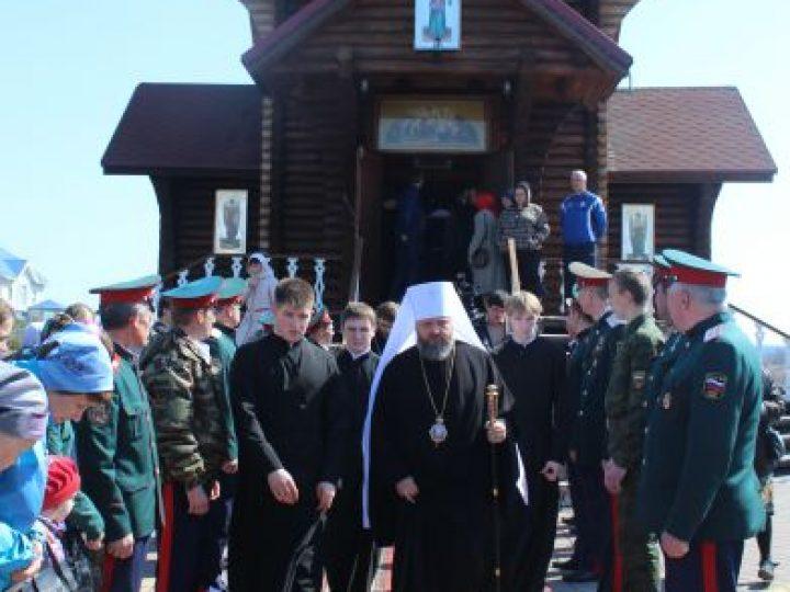 Митрополит Аристарх совершил молебен и освятил иконостас в храме блаженной Матроны Московской Кемерова