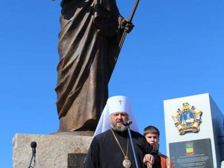 Глава Кузбасской митрополии освятил скульптуру небесного покровителя Прокопьевска