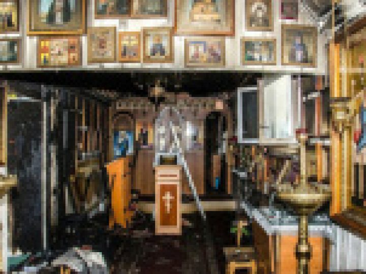 В городе Николаеве Львовской области совершен поджог храма иконы Божией Матери «Утоли моя печали»