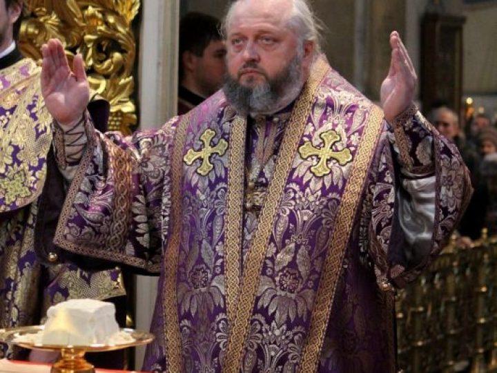 В неделю 2-ю Великого поста, святителя Григория Паламы, митрополит Аристарх совершил Литургию в Знаменском соборе