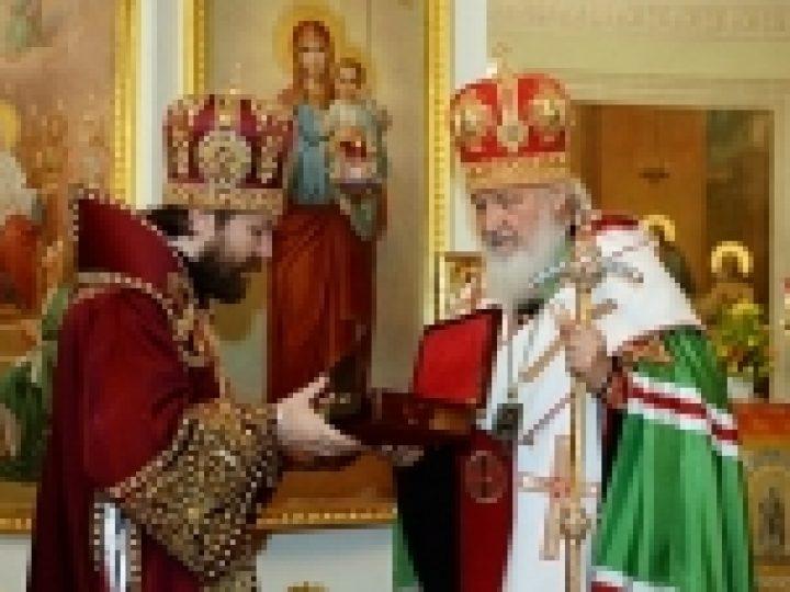 В 70-ю годовщину Отдела внешних церковных связей Святейший Патриарх Кирилл совершил благодарственный молебен в Троицком соборе Данилова монастыря