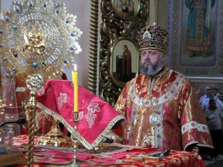 В праздник Рождества Иоанна Крестителя глава Кузбасской митрополии совершил Литургию в Иоанно-Предтеченском соборе Прокопьевска