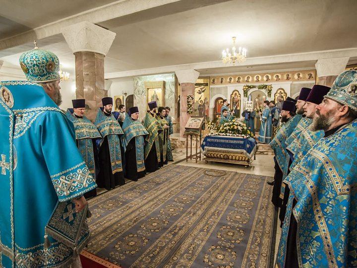 Всенощное бдение в канун Успения и праздника Собора Кемеровских святых