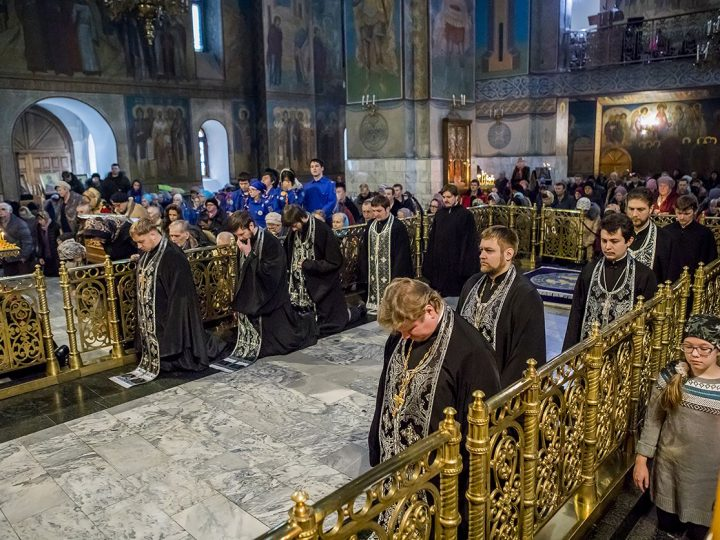 Перед началом Великого поста митрополит Аристарх испросил прощения у своих пасомых