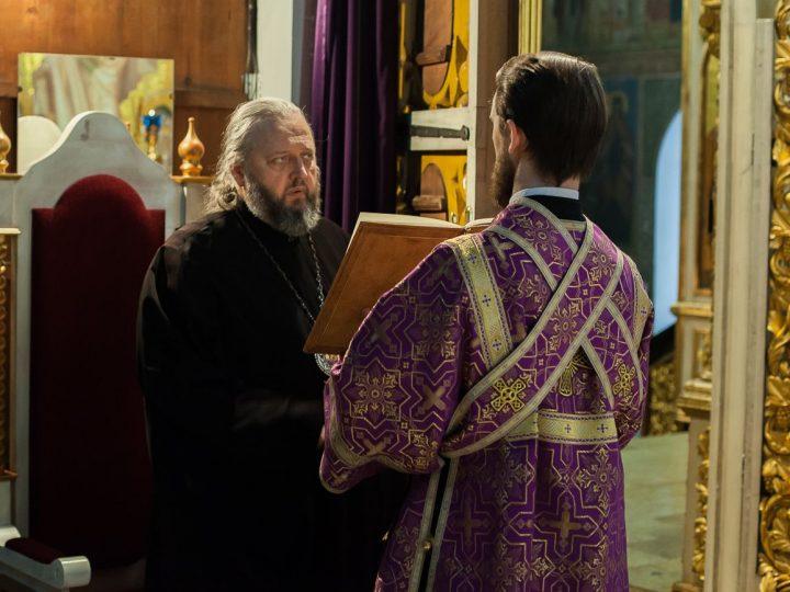 В канун первой недели Великого поста митрополит Аристарх отслужил в кафедральном храме