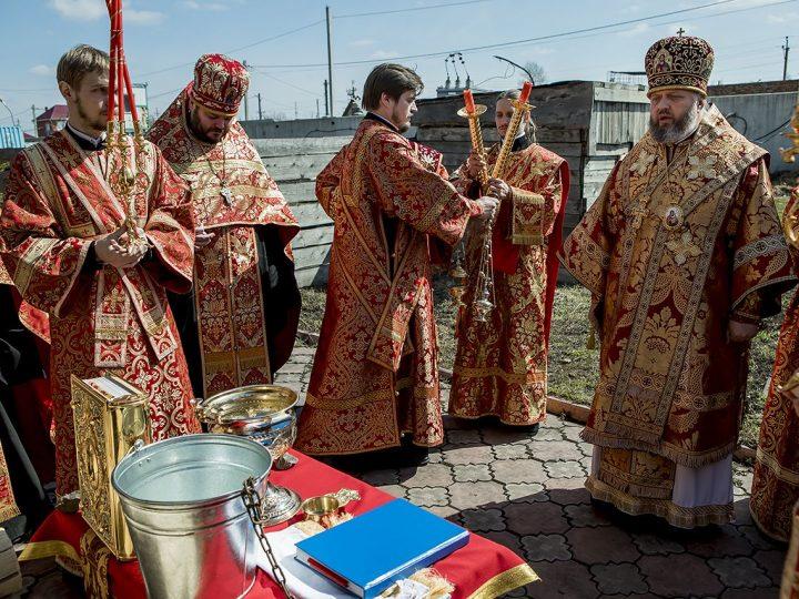 Митрополит Аристарх совершил чин освящения воды