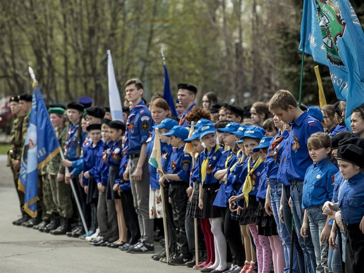 В Кемерове прошел Георгиевский парад