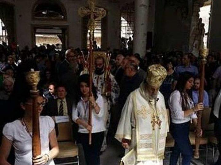 В православном храме города Забадани (Сирия) прошла первая за шесть лет служба
