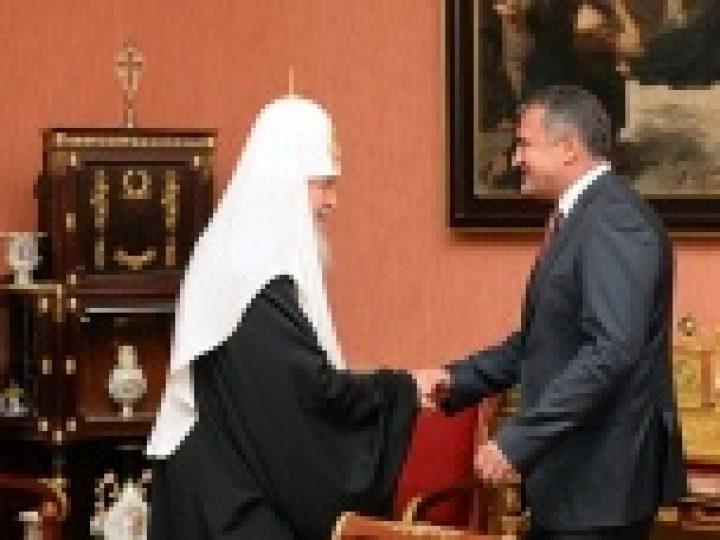 Святейший Патриарх Кирилл встретился с Президентом Южной Осетии