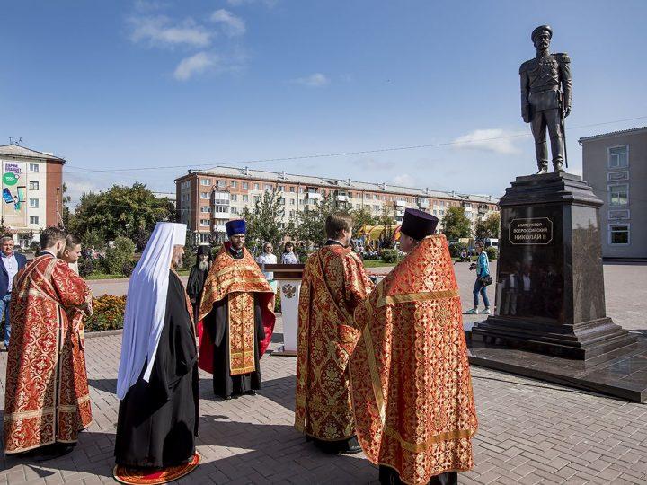 В Ленинске-Кузнецком освящен памятник страстотерпцу императору Николаю II