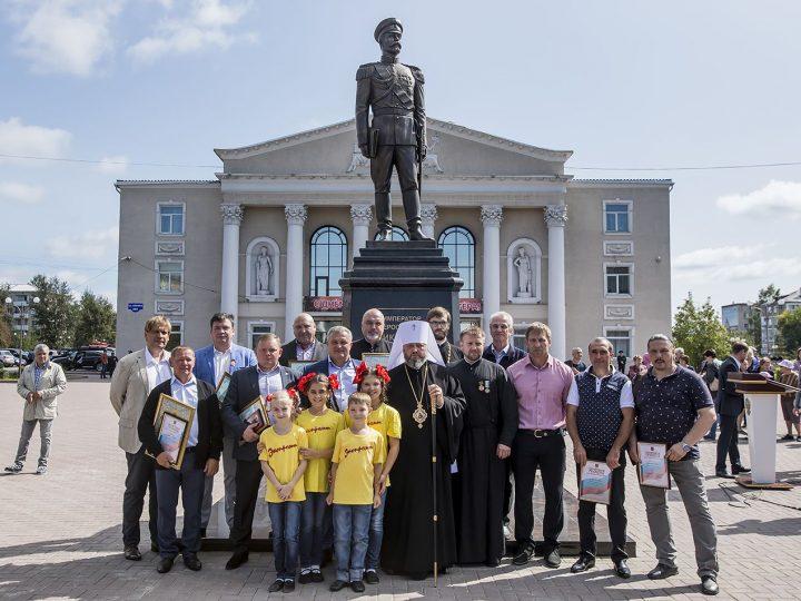 26 августа 2017 г. Освящение монумента царю-страстотерпцу Николаю II в Ленинске-Кузнецком