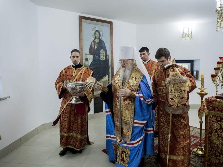 Митрополит Евлогий освятил нижний придел храма Воскресения Христова в Кемерове
