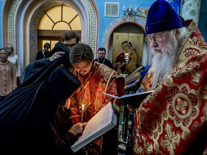 Митрополит Евлогий совершил монашеский постриг в Свято-Успенском женском монастыре