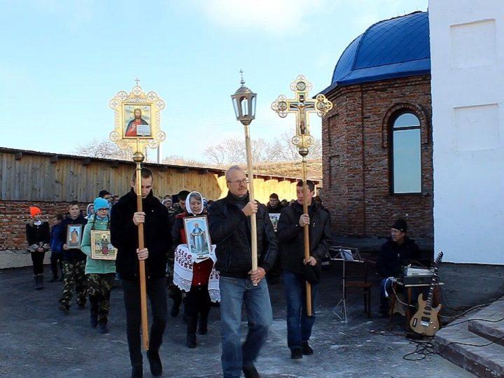 В новом храме с. Горскино Гурьевского района состоялась первая Литургия.