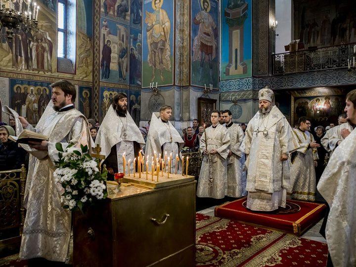 28 октября 2017 г. Панихида в Знаменском кафедральном соборе в Димитриевскую родительскую субботу