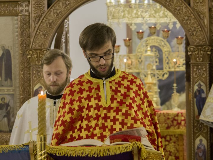 5 ноября 2017 г. Литургия по чину апостола Иакова в Воскресенском храме Кемерова
