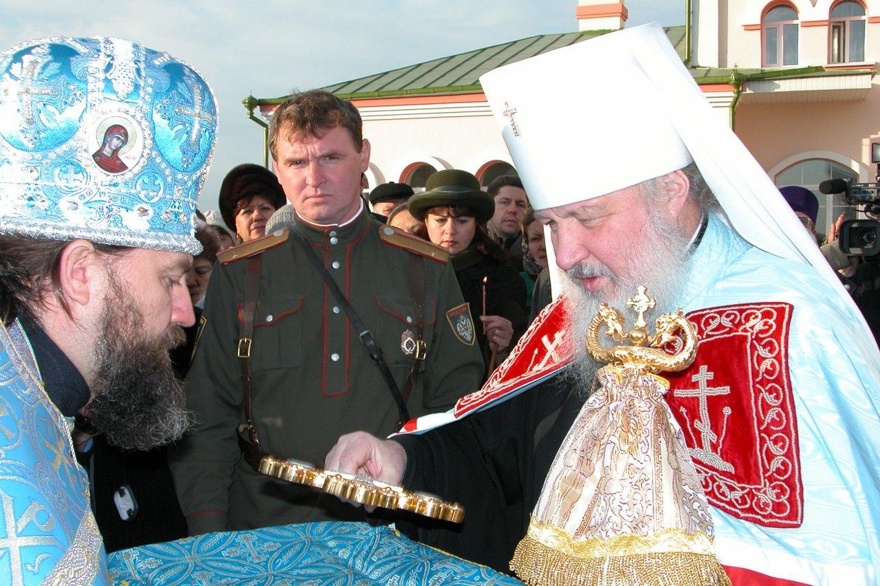 Встреча митрополита Кирилла в храме Скоропослушница