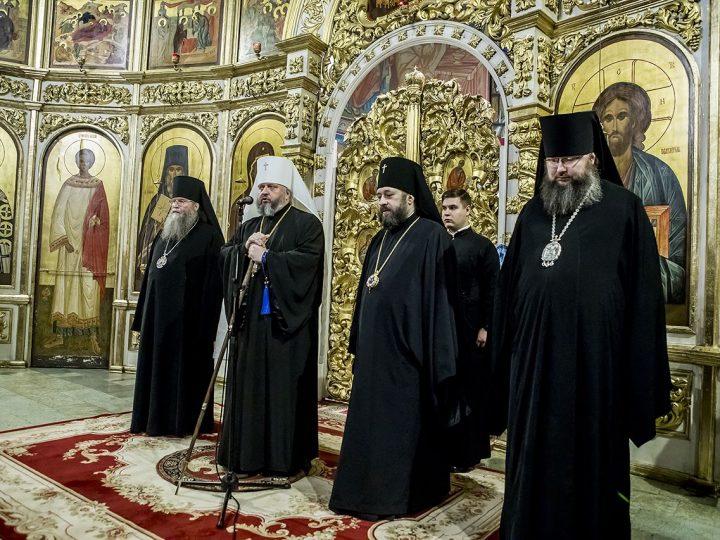 9 декабря 2017 г. Всенощное бдение в канун престольного дня Знаменского кафедрального собора