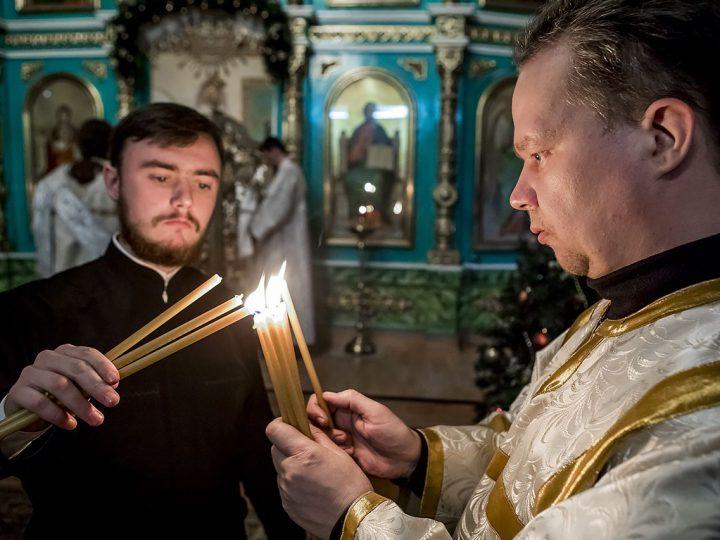 13 января 2018 г. Всенощное бдение в храме Вознесения Господня г. Белово