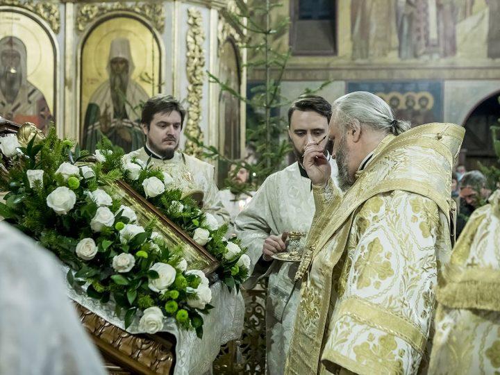 7 января 2018 г. Встреча Светлого Христова Рождества в Знаменском кафедральном соборе Кемерова