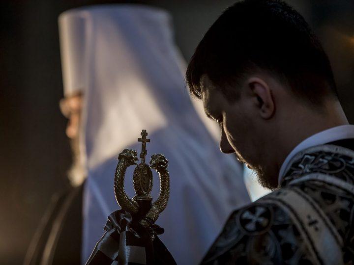 19 февраля 2018 г. Понедельник первой седмицы Великого поста. Чтение Великого канона прп. Андрея Критского в Знаменском соборе