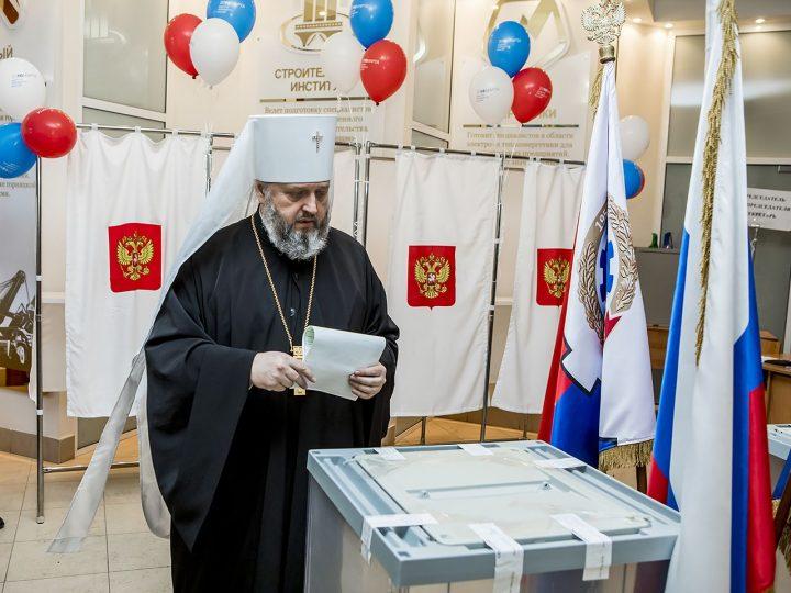 Глава Кузбасской митрополии принял участие в выборах Президента Российской Федерации