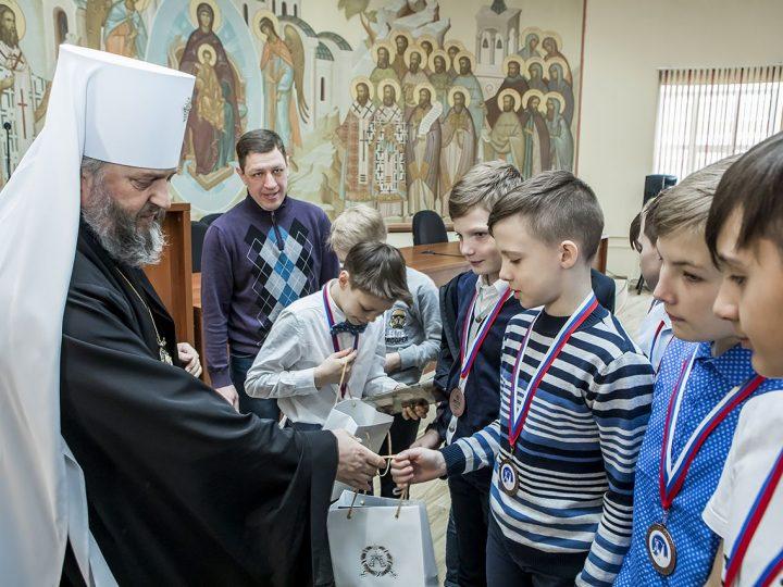 20 марта 2018 г. Встреча владыки Аристарха с призёрами турнира на призы Святейшего Патриарха