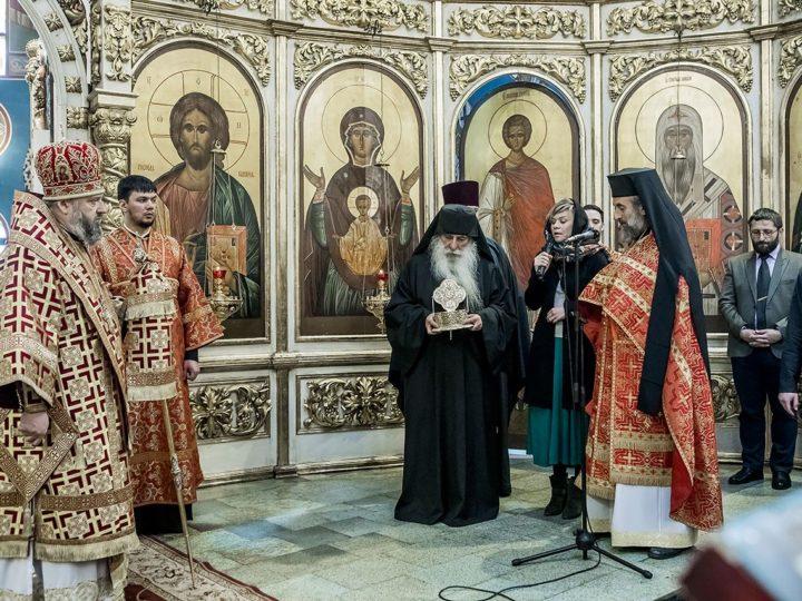 В день тезоименитства митрополита Аристарха в Кузбасс переданы мощи афонского подвижника