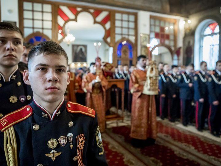 В день памяти великомученика Георгия Победоносца вместе с главой митрополии молились представители силовых структур