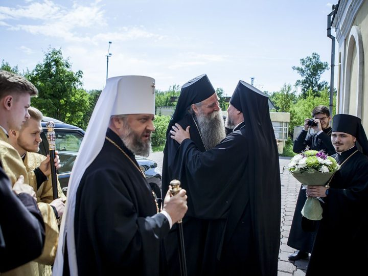 10 июня 2018 г. Встреча делегации Сербской Церкви в Новокузнецке