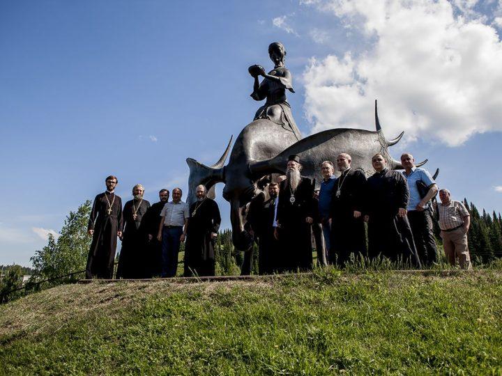 Гости Кузбасской митрополии из Черногории посетили Таштагольский район