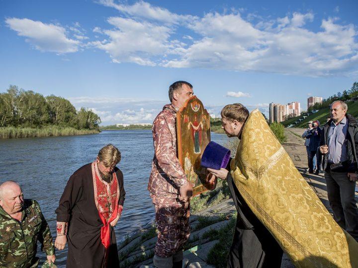 3 июня 2018 г. Встреча крестного хода-сплава в Кемерове