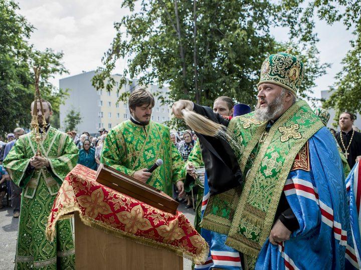 18 июля 2018 г. Освящения храма Воздвижения Креста Господня в поселке Ягуновский города Кемерово