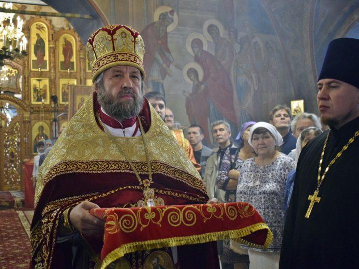 Епископ Владимир возглавил торжества по случаю 200-летия храма Святого пророка Ильи с. Ильинка