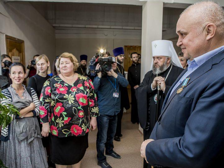 20 сентября 2018 г. Посещение Православной гимназии в Кемерове губернатором области