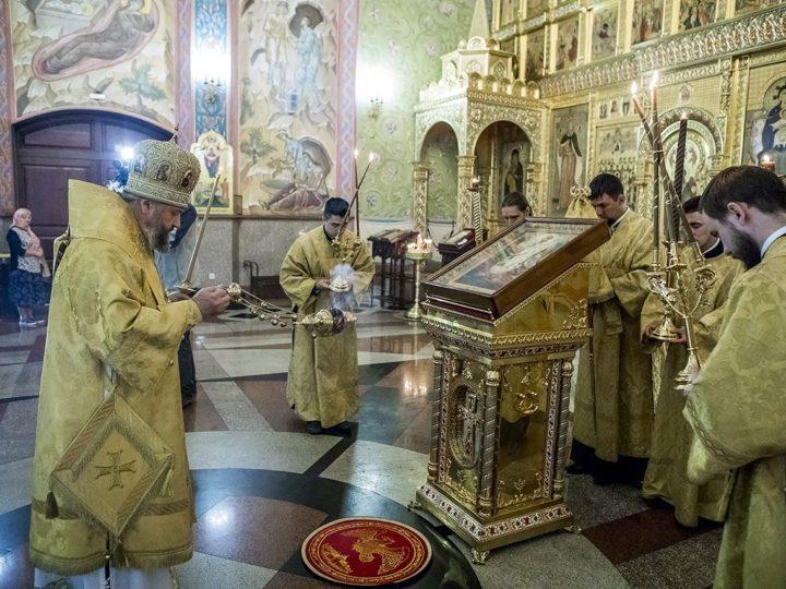 1 сентября 2018 г. Всенощное бдение в соборе Рождества Христова г. Новокузнецка