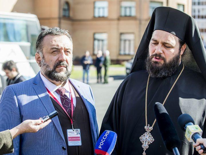 5 сентября 2018 г. Пресс-подход по случаю принесения в Кузбасс мощей святителя Спиридона