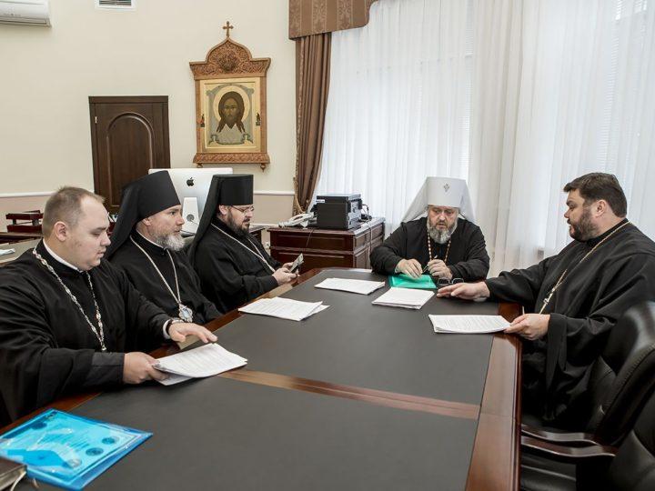 В Кемеровском епархиальном управлении состоялось заседание Архиерейского совета Кузбасской митрополии