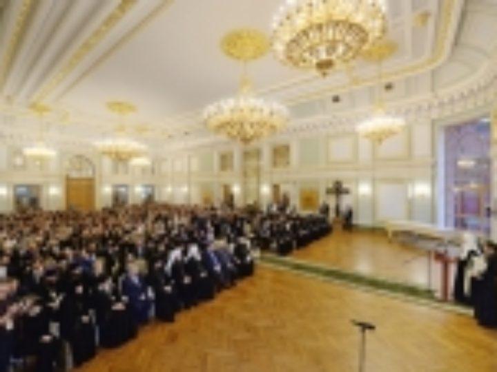 Святейший Патриарх Кирилл возглавил торжественный годичный акт Свято-Тихоновского университета