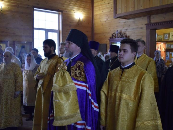 Епископ Владимир возглавил престольный праздник в храме апостола Андрея Первозванного в Мысках