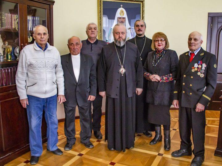 24 января 2019 г. Встреча главы Кузбасской митрополии с делегацией Совета ветеранов закрывшейся шахты Северной