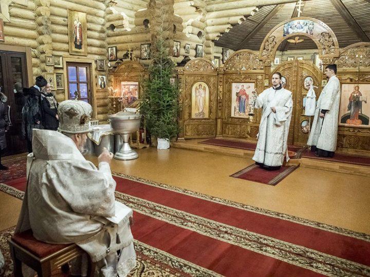 18 января 2019 г. Богослужение в храме благоверного князя Александра Невского в Крещенский сочельник